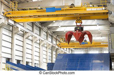 Crane waste plant