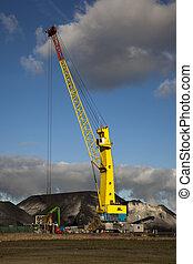 crane with blue sky