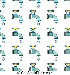 Crane with water seamless pattern in cartoon style isolated on white background vector illustration