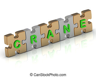 CRANE word of gold puzzle