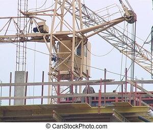 Crane worker building