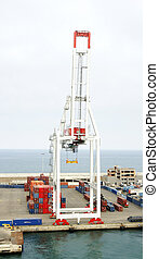 Cranes and containers at the docks