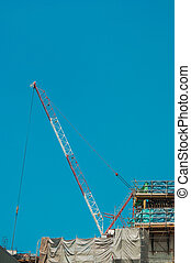 Cranes and Levers for contruction work in City