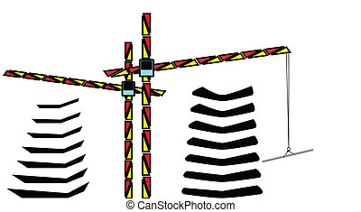 cranes  - vector illustration cranes