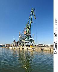 Cranes in harbour