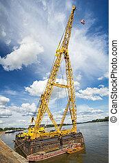 Cranes in the harbour