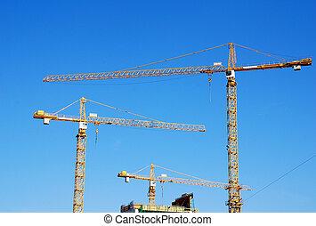 Cranes on building construction