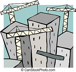 Cranes & skyscrapers