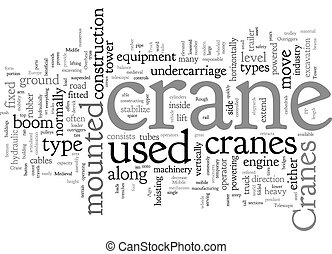 Cranes text background wordcloud concept