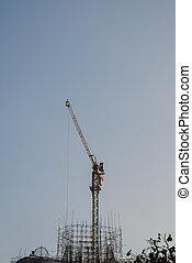Cranes used in construction