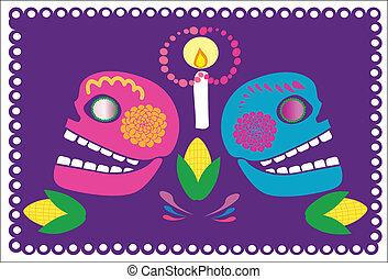 crani, con, fiori, 2