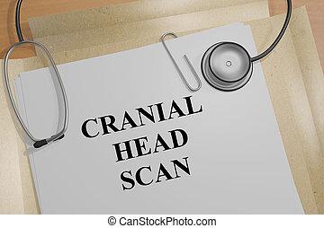 Cranial Head Scan - medical concept