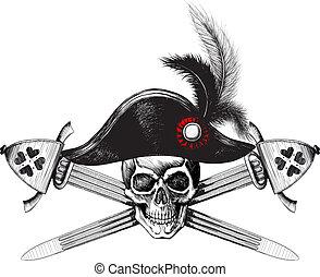 cranio, chapéu, capitão