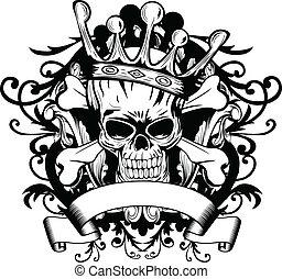 cranio, com, coroa