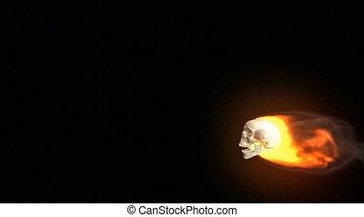 cranio, di, fuoco