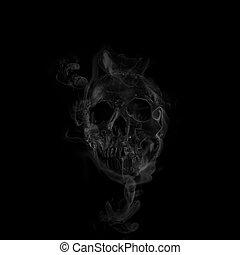 cranio, fumo, effetto
