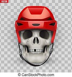 cranio, gelo, vetorial, hóquei, human, helmet.