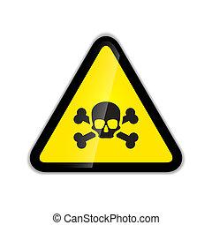 cranio, moderno, isolato, segno, avvertimento, ossa, uggia, bianco, icona