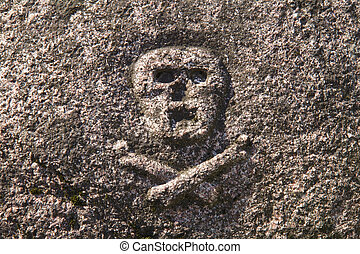 cranio, tomba, crossbones