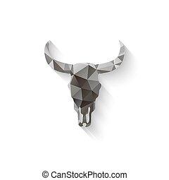 cranio, toro, triangolo