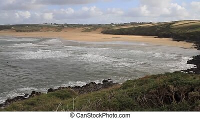 Crantock bay and beach Cornwall