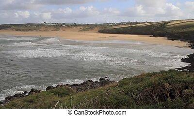 Crantock bay and beach Cornwall