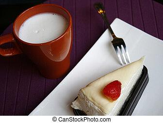 Crape cake with hot milk