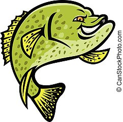 crappie-fish-lure-MASCOT-v2 - Mascot icon illustration of a...