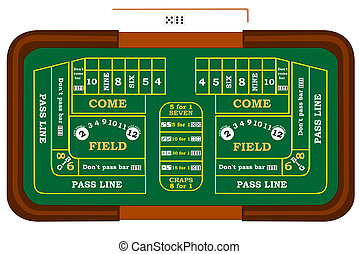 Craps - A craps table with odds bets