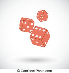 Craps icon - Craps. Flat vector icon for mobile and web...
