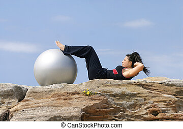 craquements, -, pilates, abs