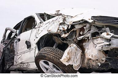 Crash 1 - A car wrecked in a bad crash