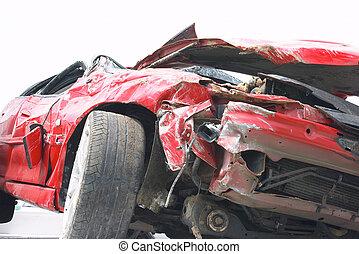 Crash 2 - Wreckage of a car after a bad crash