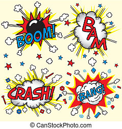 Crash, Boom, Bam and Bang! - This is the jpeg version. Four...