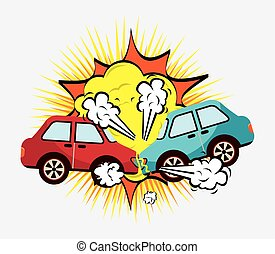 crash cars design, vector illustration eps10 graphic