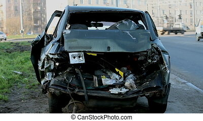 crash head-on - The consequences of a frontal collision of...