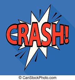 Crash icon, pop art style