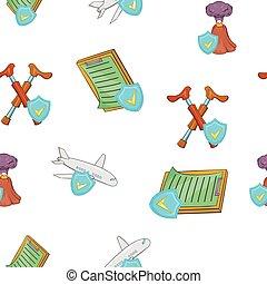 Crash pattern, cartoon style