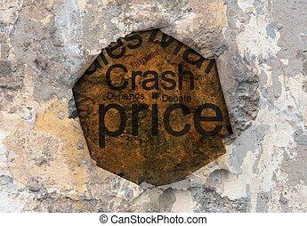 Crash price  grunge concept