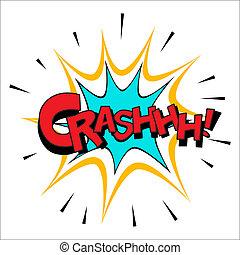 Crash sound effect illustration