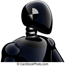 Crash test dummy android black - Crash test dummy robot...