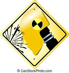 Crash test sign