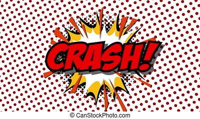 CRASH - word speech balloons comic style animation