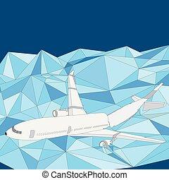 Airliner plane falling