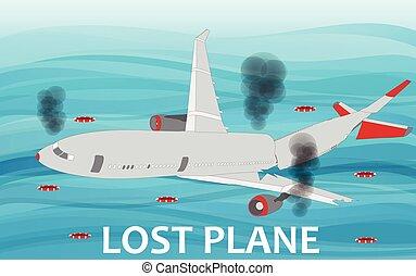 Crashed Airliner plane