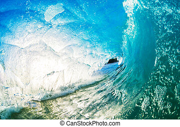 Ocean Wave - Crashing Blue Ocean Wave