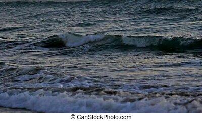 Crashing ocean waves closeup 1080p