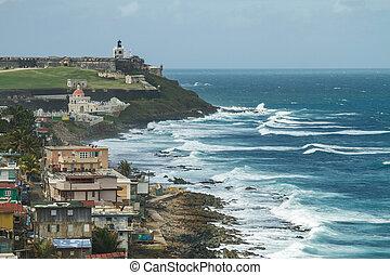 Crashing surf at El Morro Fortress, San Juan, Puerto Rico