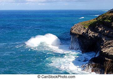 Crashing Wave at Kilauea Point Wildlife Sanctuary