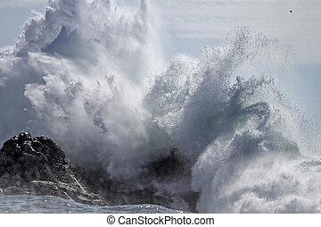 Crashing wave splash